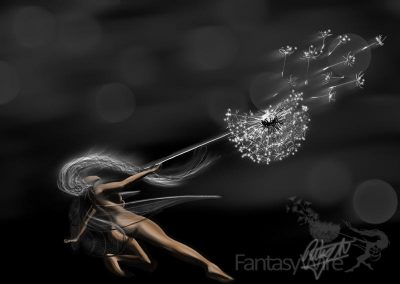 Wishes fairy drawing