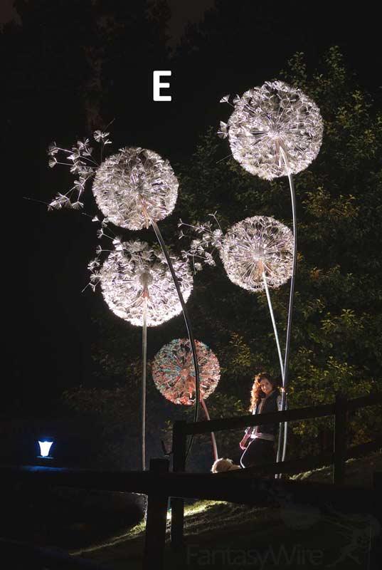 Giant Wire Sculpture Dandelions