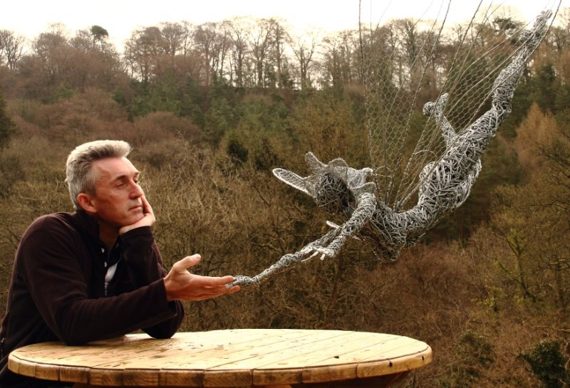 Robin Wight with Wire Fairy