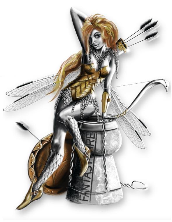 Contemporary Fairy design by Robin Wright