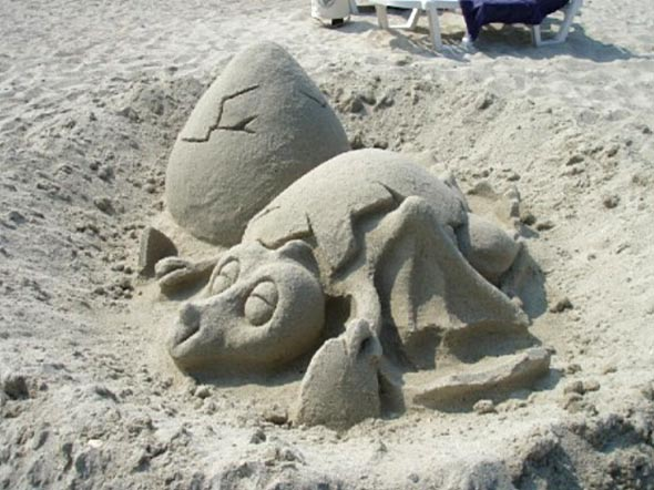 Sand Sculpture by Robin Wright