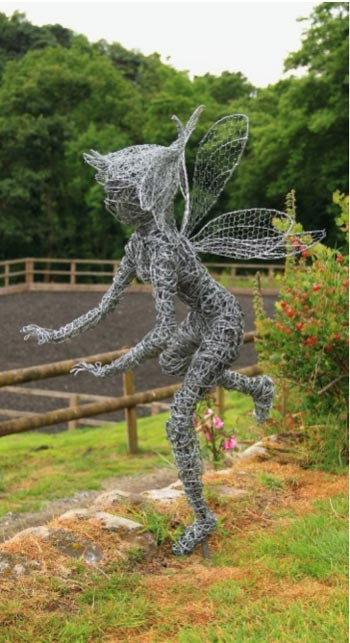 Early Wire Fairy Sculpture